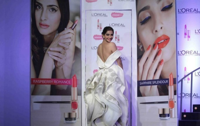 Sonam Kapoor at L'Oreal Paris's new Cannes Collection,Sonam Kapoor,actress Sonam Kapoor,Sonam kapoor bold photo,Sonam Kapoor pics,Sonam Kapoor images,hot Sonam Kapoor,Sonam Kapoor latest pics,L'Oreal Paris,L'Oreal Paris brand ambassador,L'Oreal