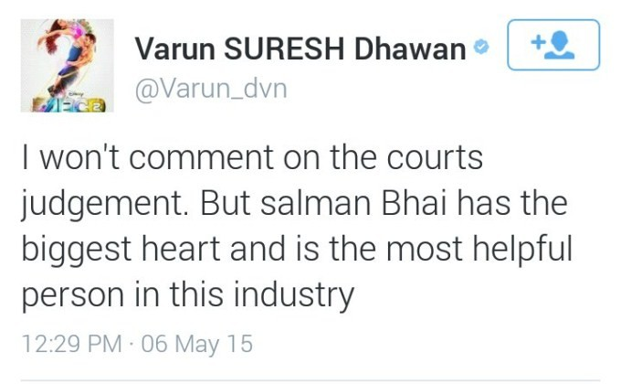 Celebs Tweet About Salman Khan Verdict,Salman Khan Verdict,Salman Khan,Salman khan hit and run case,salman khan verdict,Salman Khan convicted in 2002,Twitter reactions,Twitter