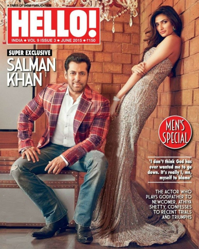 Salman Khan and Athiya Shetty on Hello Magazine Cover,Salman Khan on Hello Magazine Cover,Athiya Shetty on Hello Magazine Cover,Hello Magazine Cover,Salman Khan and Athiya Shetty,Salman Khan,actor Salman Khan,Salman Khan pics,Salman Khan images,Salman Kha