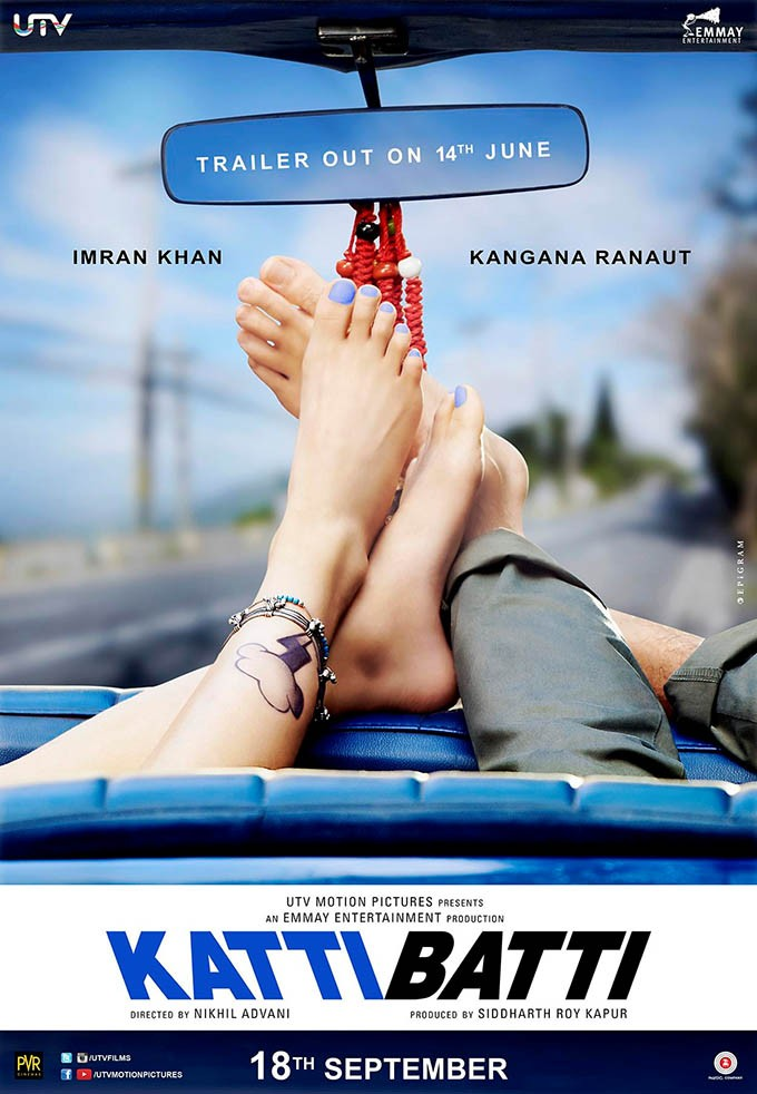 Katti Batti,Kangna Ranaut,Katti Batti Movie Poster,Katti Batti first look,Imran Khan,Kangana Ranaut new movie,Kangana Ranaut in Katti Batti,Katti Batti stills,Katti Batti images,Katti Batti photos,Katti Batti pictures