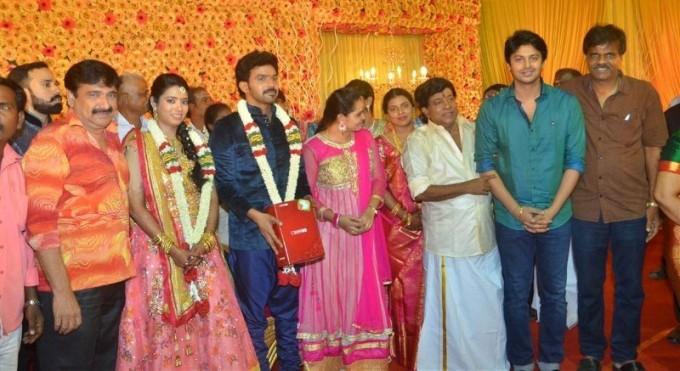 Singamuthu Son Wedding Reception,Ilayaraja,Prabhu,Manobala,Srikanth,K. Bhagyaraj,Kalaipuli S. Thanu,Kovai Sarala,Deva,Ponnambalam,Bharathiraja,Singamuthu Son Wedding Reception pics,Singamuthu Son Wedding Reception images,Singamuthu Son Wedding Reception p