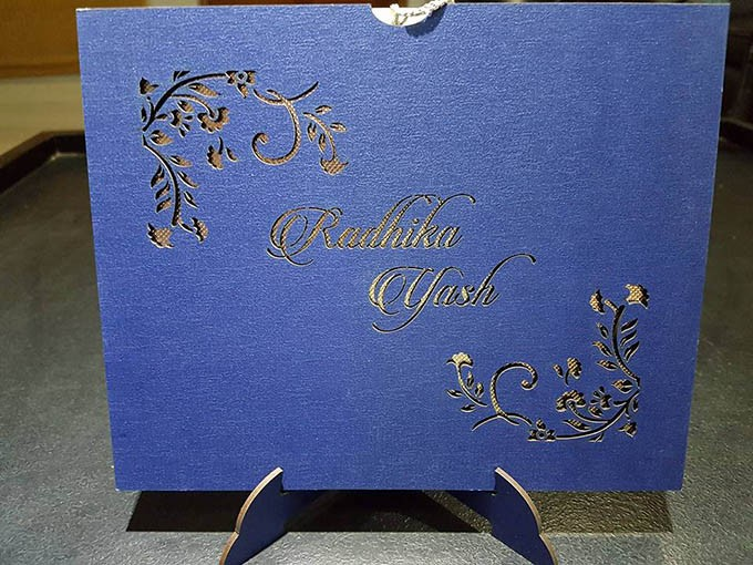 Check out the photos of Yash and Radhika Pandit's wedding invitation.