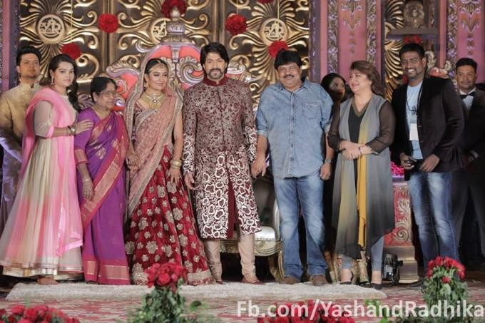 Yash and Radhika Pandit's wedding reception pictures