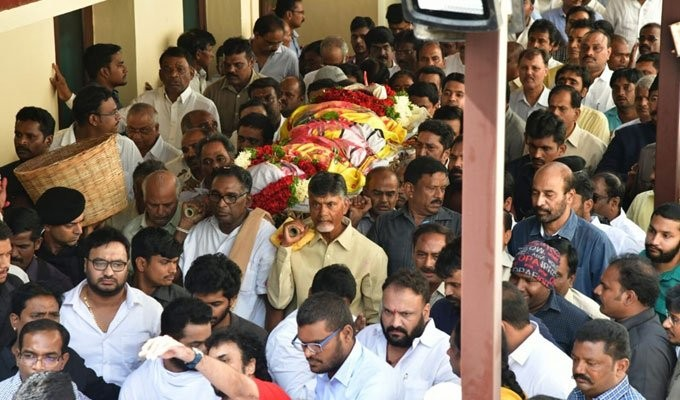 Image result for harikrishna funeral time