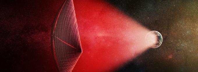 alien, cosmic light flares, space,