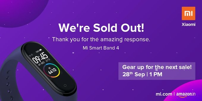 Mi Band 4 sold out on Day 1