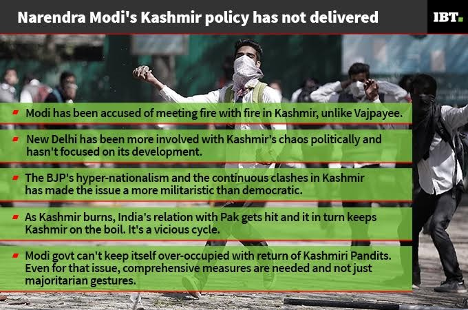 Lows of Modi government after 3 years: Jammu & Kashmir