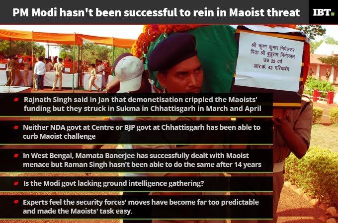 Lows of Narendra Modi after 3 years: Maoist menace