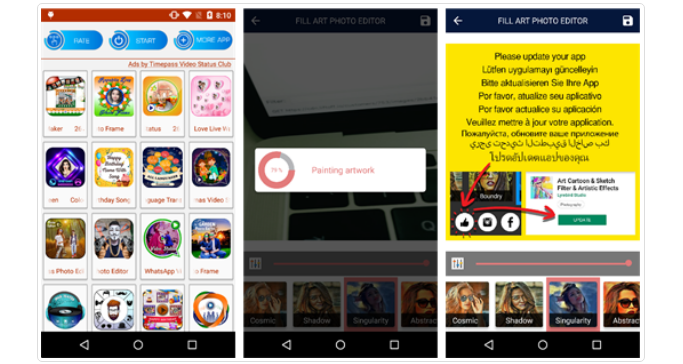 Fake apps removed from Play Store