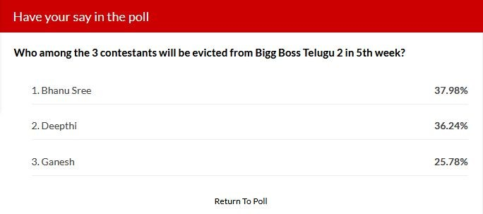 Bigg Boss Telugu 2 week 5 elimination - IBTime poll results