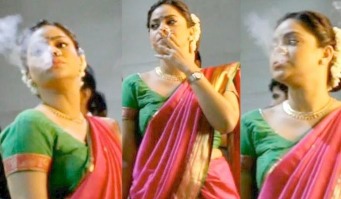 Sumona Chakravarty leaked smoking photos