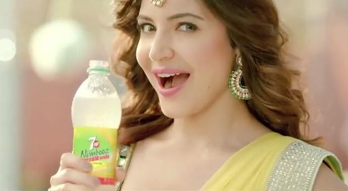 Anushka Sharma in 7UP advertisement