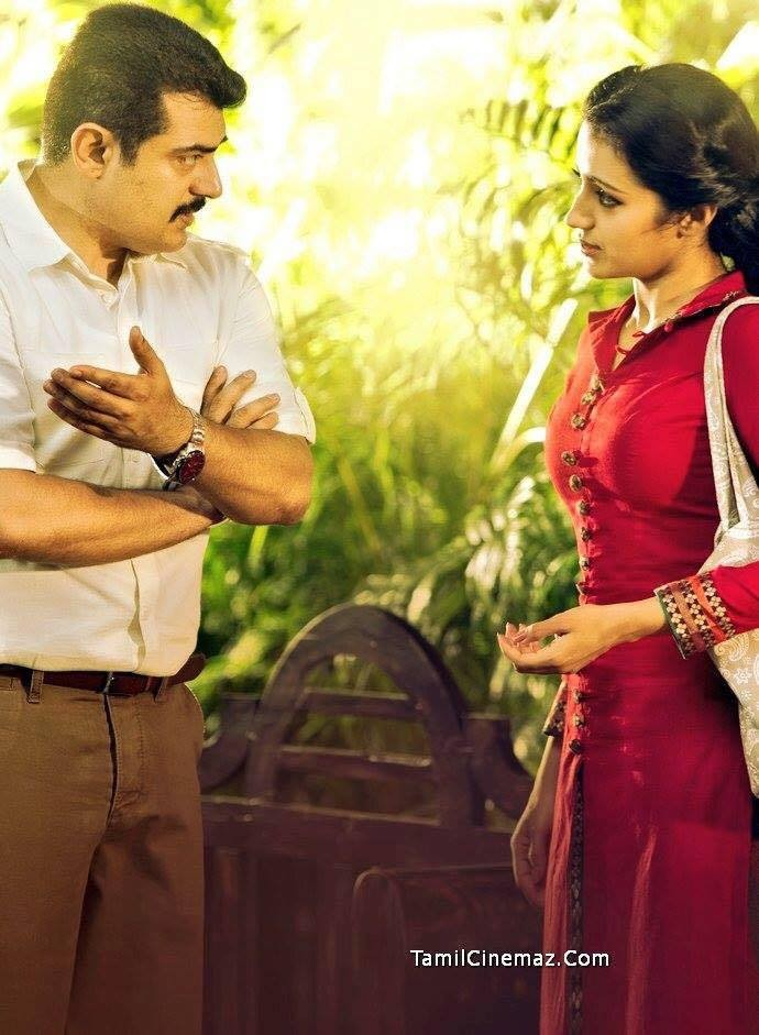 Trisha and Ajith in 'Yennai Arindhaal'