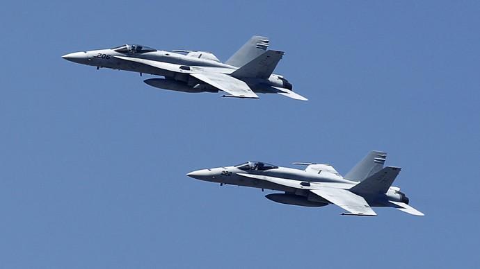 US F-18 fighter jets