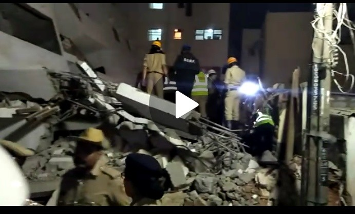 Building collapsed in Bangalore