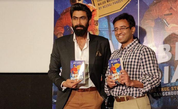 Rana Daggubati launches Amit Lodha's book Bihar Diaries