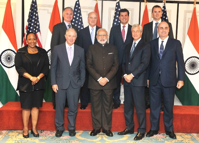 Narendra Modi,modi,Narendra Modi in New York,Modi in New York,modi with American CEOs,American CEOs,modi in USa