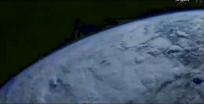 Orion sends back image of earth