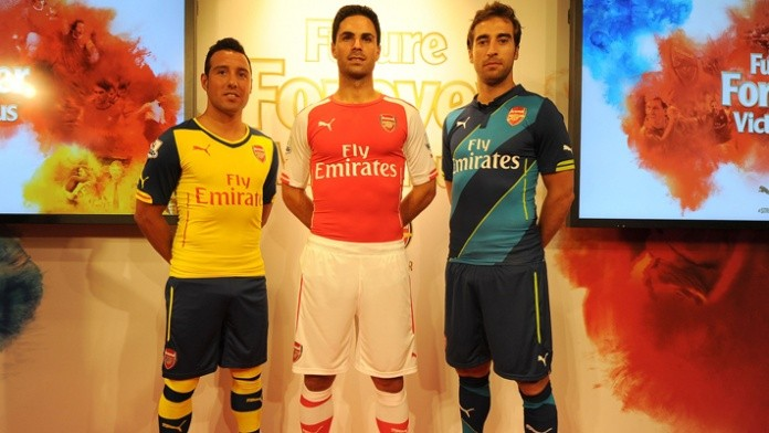 big sale 32197 d14a0 Arsenal Unveil New Kits for 2014/15 Campaign [Photos ...