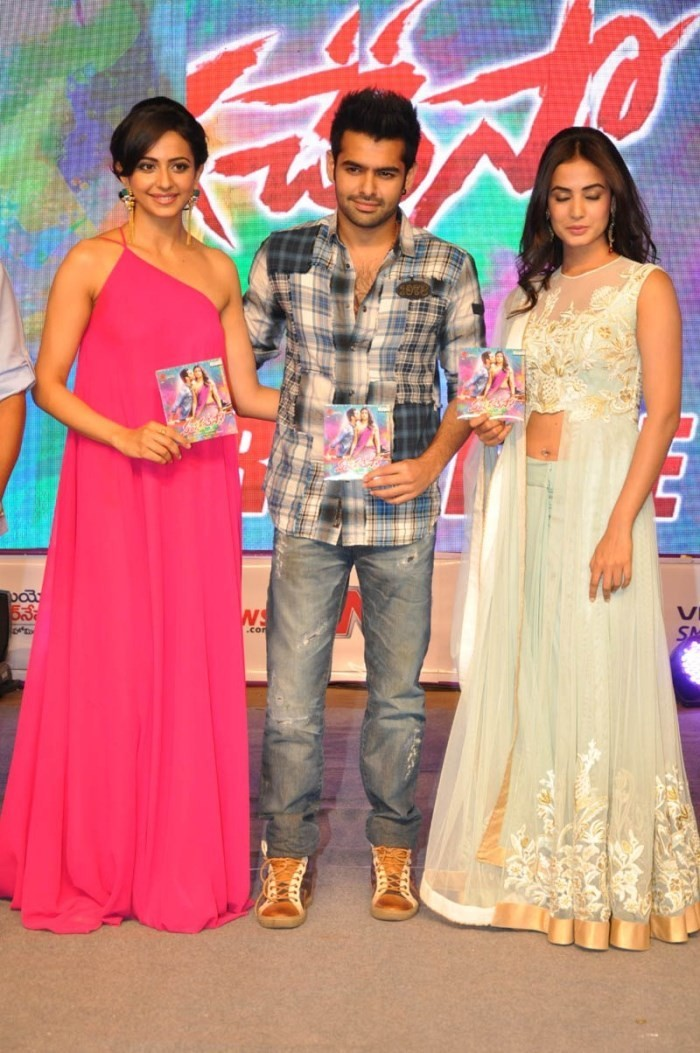 Pandaga Chesko Audio Launch,telugu movie Pandaga Chesko Audio Launch,Pandaga Chesko,Pandaga Chesko Audio Launch pics,Pandaga Chesko Audio Launch images,Pandaga Chesko Audio Launch photos,ram,Rakul Preet Singh,Sonal Chauhan,telugu movie Pandaga Chesko,Pand