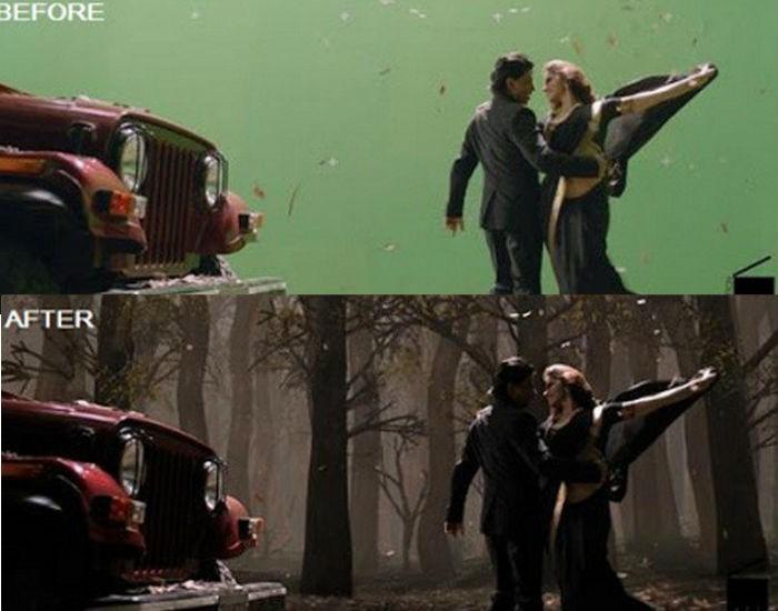 Chennai Express Before And After VFX Shots