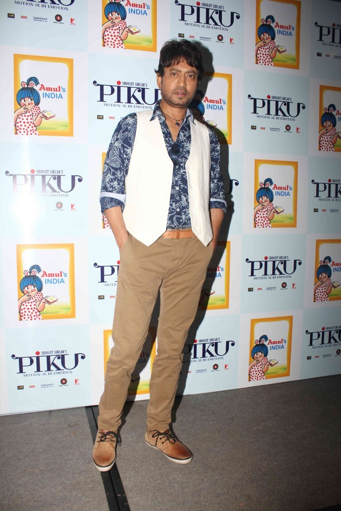 Deepika Padukone,irrfan khan,shoojit,Amul's India Book Launch,Deepika,Irrfan and Shoojit snapped at Amul's India Book Launch,Piku promotion,deepika padukone pics,deepika padukone images,hot deepika padukone,deepika padukone latest pics