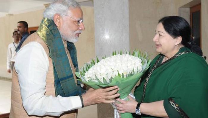 Narendra Modi,Narendra Modi with Jayalalitha,Jayalalitha,Narendra Modi with Jayalalitha at Poes Garden,Modi,Lunch Pe Charcha