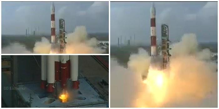 Indian PSLV rocket,PSLV rocket,PSLV rocket lifts off with 104 satellites,104 satellites,Polar Satellite Launch Vehicle,PSLV-XL