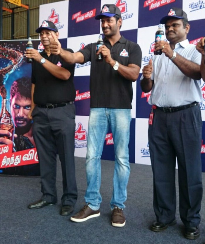 Vishal Brand Ambassador For Thumbs Up,Vishal,actor Vishal,Vishal latest pics,Vishal images,actor Vishal pics,Thumbs Up,Thumbs Up cool drinks