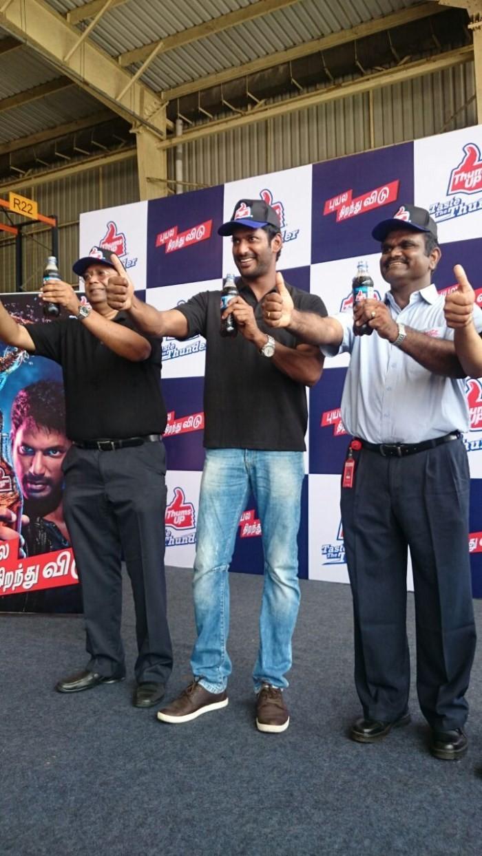 Vishal Brand Ambassador For Thumbs Up,Vishal,actor Vishal,Vishal latest pics,Vishal images,actor Vishal pics,Thumbs Up,Thumbs Up cool drinks