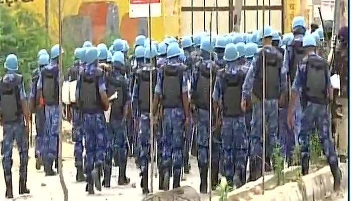 Army arrives at Dera,Army arrives at Dera headquarters,Sirsa,Dera Sacha Sauda headquarters,Dera chief Gurmeet Ram Rahim Singh,Gurmeet Ram Rahim Singh