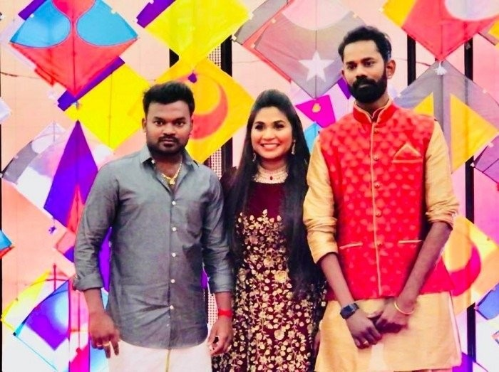 Ramesh Thilak and RJ Navalakshmi,Ramesh Thilak,RJ Navalakshmi,Ramesh Thilak wedding,Ramesh Thilak marriage,Ramesh Thilak sangeet ceremony,actor Ramesh Thilak