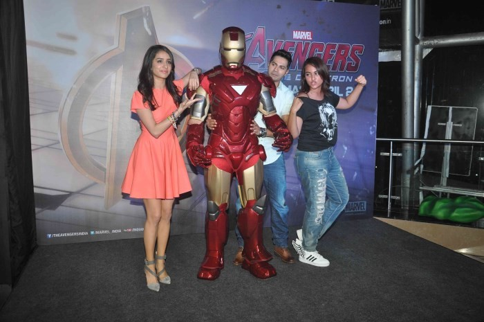 Avenger Age Of Ultron Special Screening,Avenger Age Of Ultron,Avenger Age Of Ultron movie,hollywood movie Avenger Age Of Ultron,Avenger Age Of Ultron posters,sonakshi sinha,actress sonakshi sinha