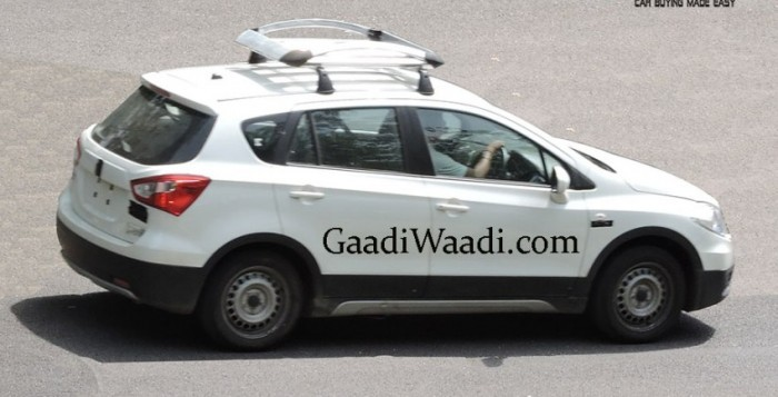 Maruti Suzuki S-Cross Spied Testing with Roof Carrier