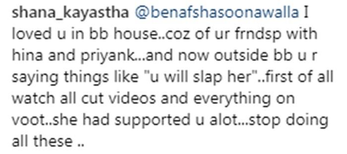 Fans Shames Benafsha Soonawalla for Supporting Priyank Sharma
