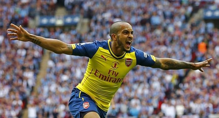 Theo Walcott Arsenal FA Cup 2015 Final