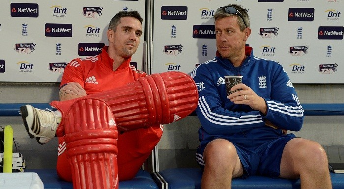 Kevin Pietersen and Ashley Giles