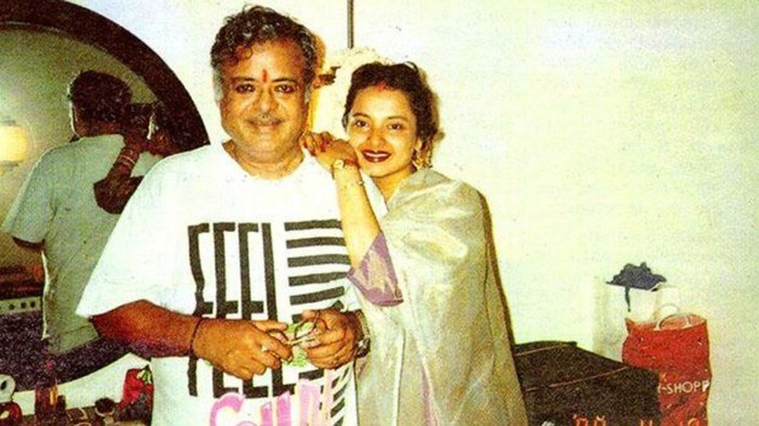 Rekha with father Gemini Ganesan