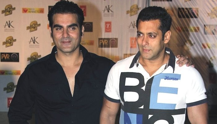 Arbaaz Khan with brother Salman Khan