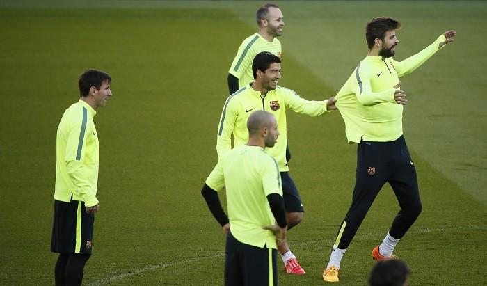 Messi Mascherano Suarez Iniesta Pique Barcelona