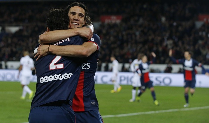 Thiago Silva and Edinson Cavani