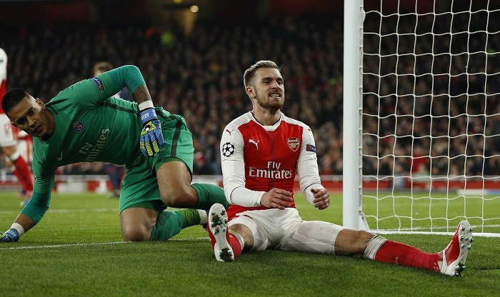 Aaron Ramsey Arsenal Areola PSG