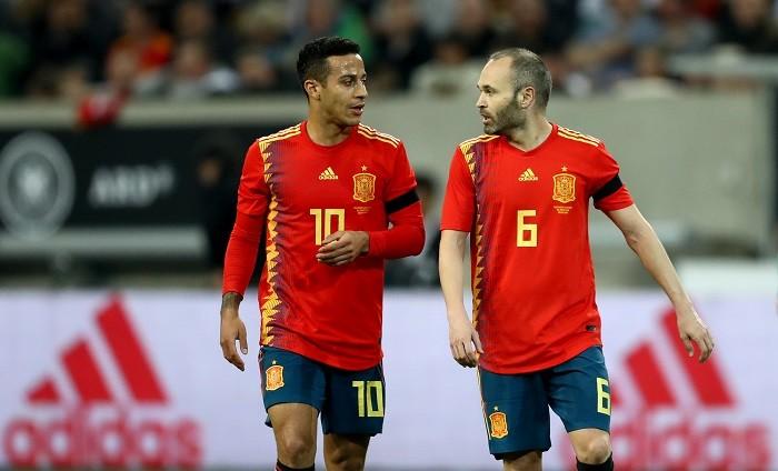 Thiago Alcantara Andres Iniesta Spain