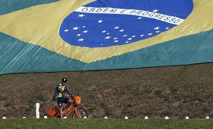 Neymar Brazil flag