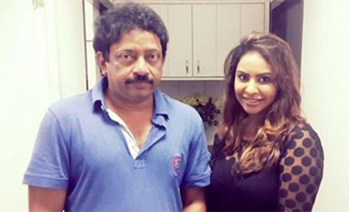 Ram Gopal Varma and Sri Reddy