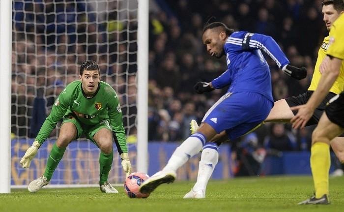 Watford Jonathan Bond Didier Drogba Chelsea