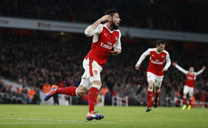 Olivier Giroud, scorpion kick goal, Arsenal, Crystal Palace, Premier League