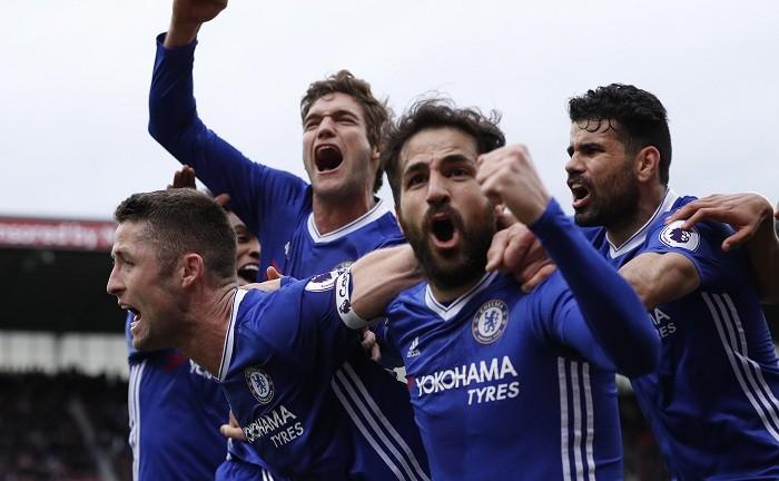 Premier League, Premier League results, Gary Cahill, Chelsea, Leicester City, Craig Shakespeare, Riyad Mahrez, Crystal Palace, Sam Allardyce`