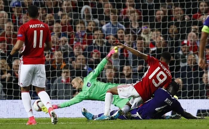 Marcus Rashford, Manchester United, Anderlecht, Europa League, quarterfinals second leg