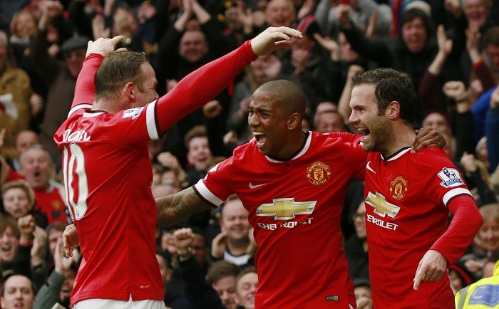 Wayne Rooney Ashley Young Juan Mata Manchester United